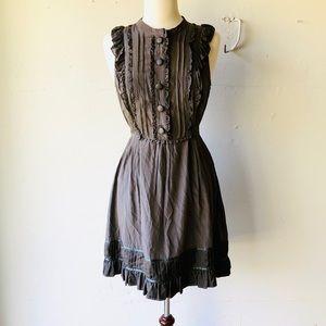 Ted Baker Silk Blend Ruffled Tie Waist Dress